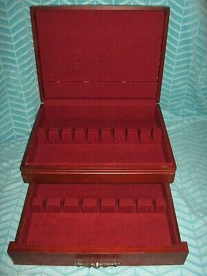 Flatware Silverware Wood Box Storage Chest Case Anti Tarnish Proof Lining Drawer