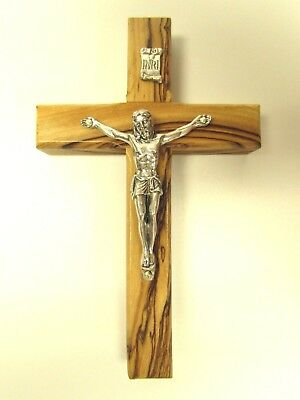 Olive Wood Crucifix, Hanging Wall Cross from Holy Land - Bethlehem, Jerusalem](Wood Cross)