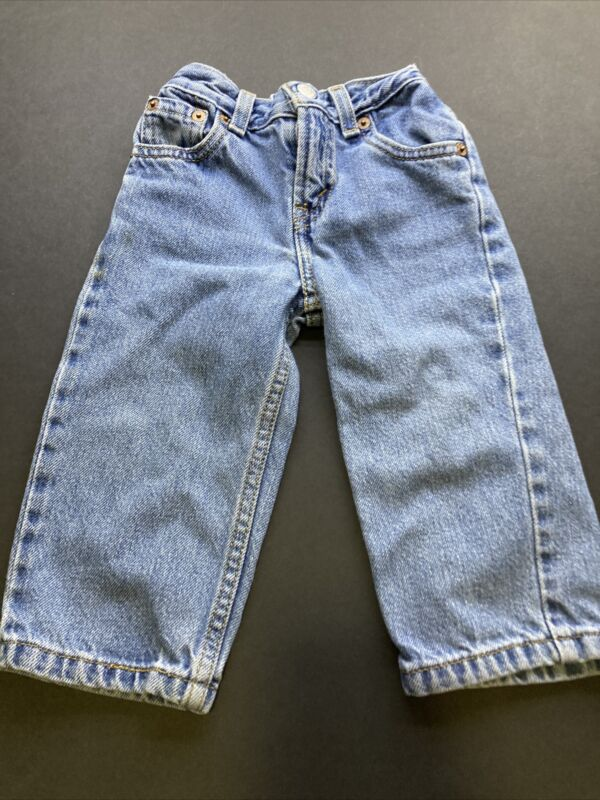 Levis 526 Toddler Size 18 Mo Relaxed Fit  Snap Pockets Med Wash cotton