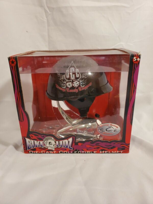 Toy Zone Bike Lidz Die-Cast Collectible Black Helmet Orange County Choppers