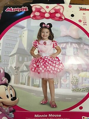 Pink Sparkly Minnie Mouse Halloween Costume Toddler 2T Child Kid Girl