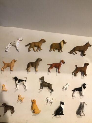 Lot of 19 Plastic Dog Figurines