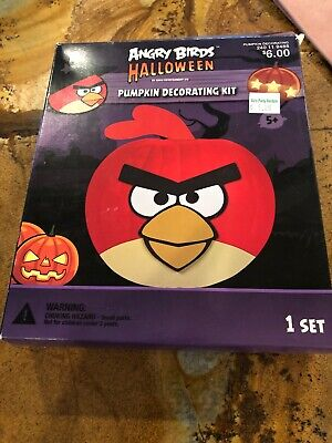 Angry Bird Pumpkin Decorating (New Decorate Your Own Angry Birds Halloween Pumpkin Decorating Kit  for 9