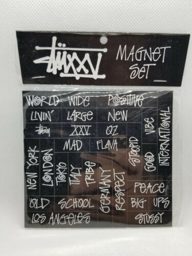 Rare Brand New Stussy Magnet Set 25th Anniversary Collection Hard 2 Find