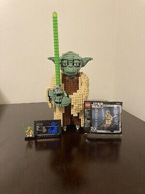 LEGO Star Wars Yoda (75255) PreBuilt w/ Minifig. Bonus: NIP Obi-Wan Minifig.