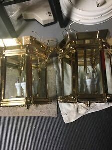 Solid brass light fixtures, like new