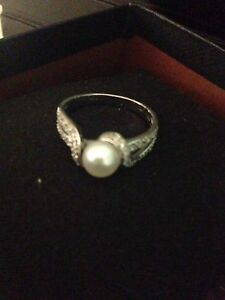 Silver Pearl Ring  London Ontario image 4