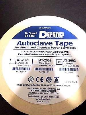 Defend Autoclave Tape 1 60yd Per Roll Dental At-2003 Sterilizer Indicator