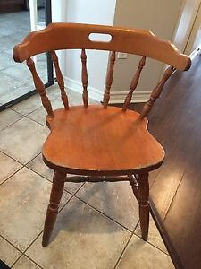 Solid wood pub chairs