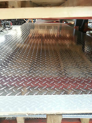 Aluminum Alloy 3003 Diamond Plate Tread Brite .120 X 24x 48 Lot Of 4 Pcs