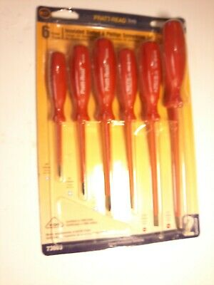 Pratt-read Tools Insulated Screwdriver Set 73603 1000 Volt Rated 6 Piece Set
