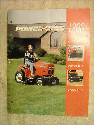 Power King Fiberglass Tractor Brochure 1200 Series 1218