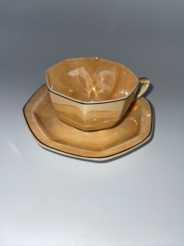 RARE Vintage Steubenville China Tea Cup And Saucer