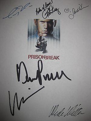 Prison Break Signed TV Script Dominic Purcell Wentworth Miller Robin Tunney RPNT