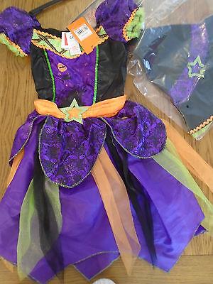 BNWT girls Witch halloween fancy dress up. Age 11-12 years. Sainsbury - Sainsbury Halloween Fancy Dress