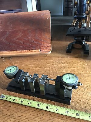 Bench Micrometer Precision Gage Fixture 8 X 2 Federal Indicators V Blocks