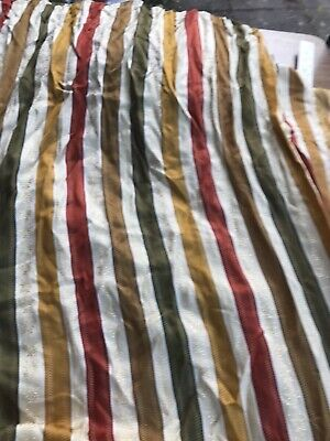 "Vintage Retro Striped Large Single Hall Curtain W92"" D84"""