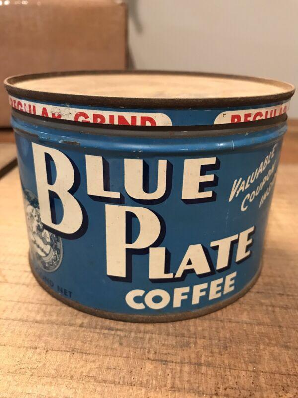 Blue Plate Coffee Tin