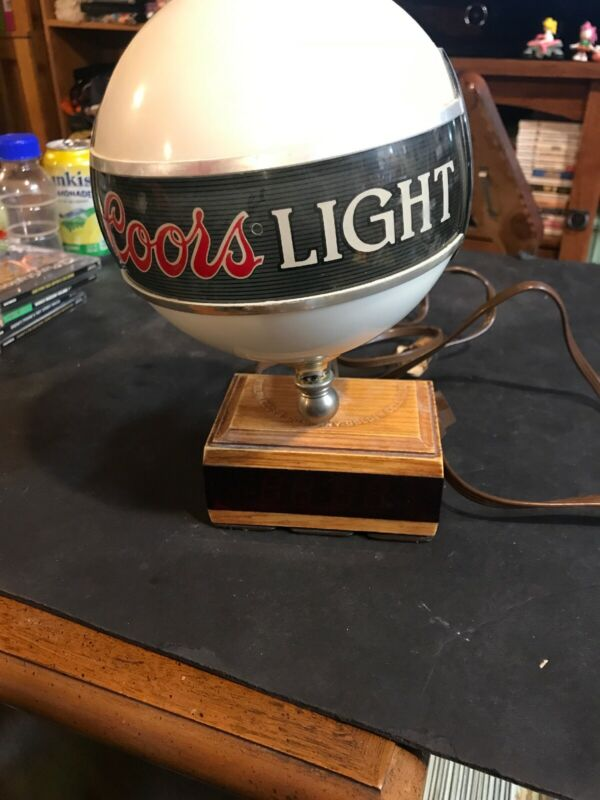 Vintage Coors Beer Advertising Bar Clock Lamp Sign Register Globe Light RARE!!