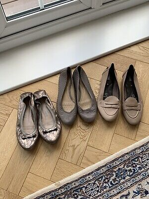 Three Pairs Leather Shoes UK SIZE 7 GEOX AND HISPANITAS