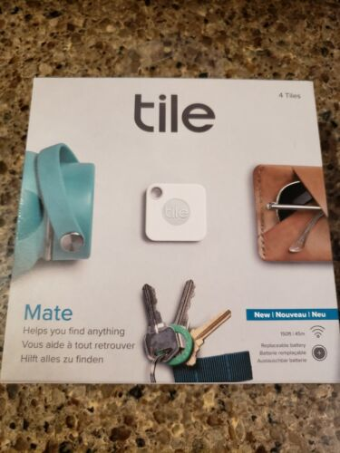 Tile Bluetooth Tracker : Tile Mate - 4 Pack (Replaceable battery Model)