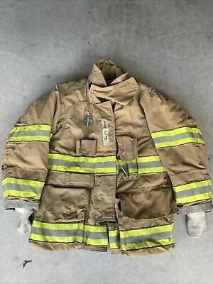Firefighter Globe Turnout Bunker Coat 36x29 G-xtreme 2008 No Cut Out