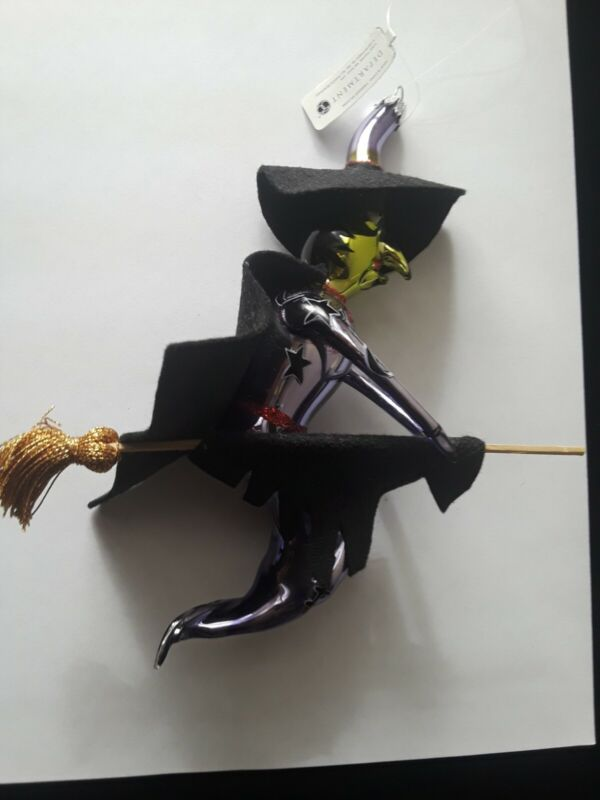 Vintage Department 56 Halloween Witch On A Broomstick