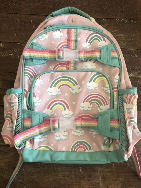 Pottery Barn Kids Small Mackenzie Backpack Rainbows Pink No Monogram