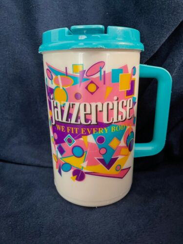Vintage Jazzercise We Fit Every Body Water Sports Bottle Thermo Mug