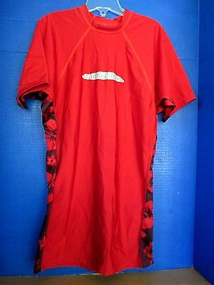 f612ed9138 SNORKEL BOB'S Red Short Sleeve RASH GUARD SHIRT~Men's XL