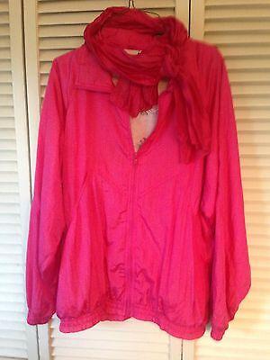 Pink Lady Ladies Jacket Windbreaker Grease Costume Coat Vintage S Small