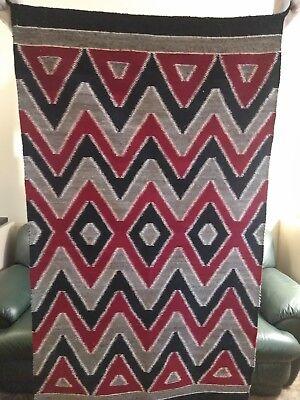 1930's Navajo eye dazzler rug tapestry weave