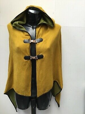CASHMERE HOODED CAPE BY JAYLEY MUSTARD