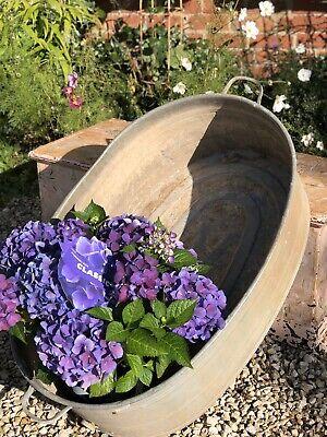 Large Vintage Galvanised Bath Planter