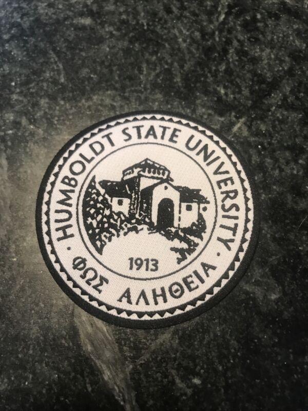"Humboldt State University CA School Logo 3"" Patch Rare Vtg Hat Norcal 1913"