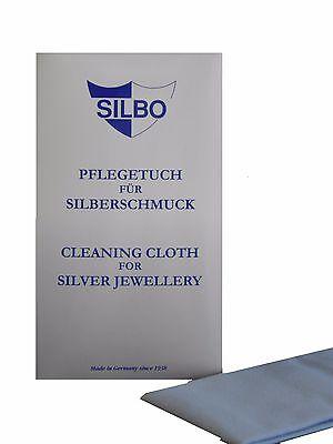 Silbo Pflegetuch für Silberschmuck Silber Putztuch Reinigungstuch für Schmuck
