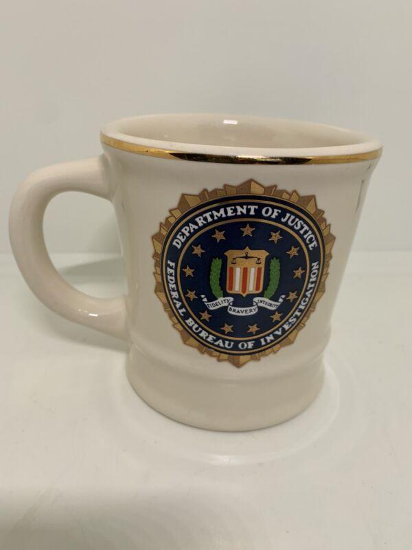 VTG FBI Department of Justice Mug Coffee Cup.