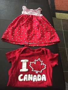 3-6 M Canada day outfits