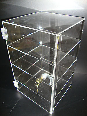 Acrylic Countertop Display Case 9 12 X 9 12 X 16 Locking Security Show Case