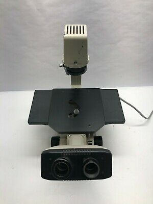 Nikon Tms Inverted Phase Contrast Microscope Adjustable Light W Objective