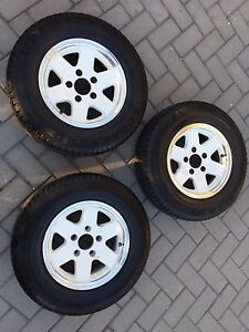 Alloy wheels suit trailer Seaford Rise Morphett Vale Area Preview