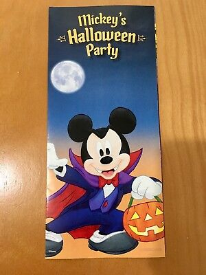 Disneyland Mickey's Halloween 2018 Party Map Mickey Mouse