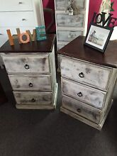 Solid bedside tables on runners Bomaderry Nowra-Bomaderry Preview