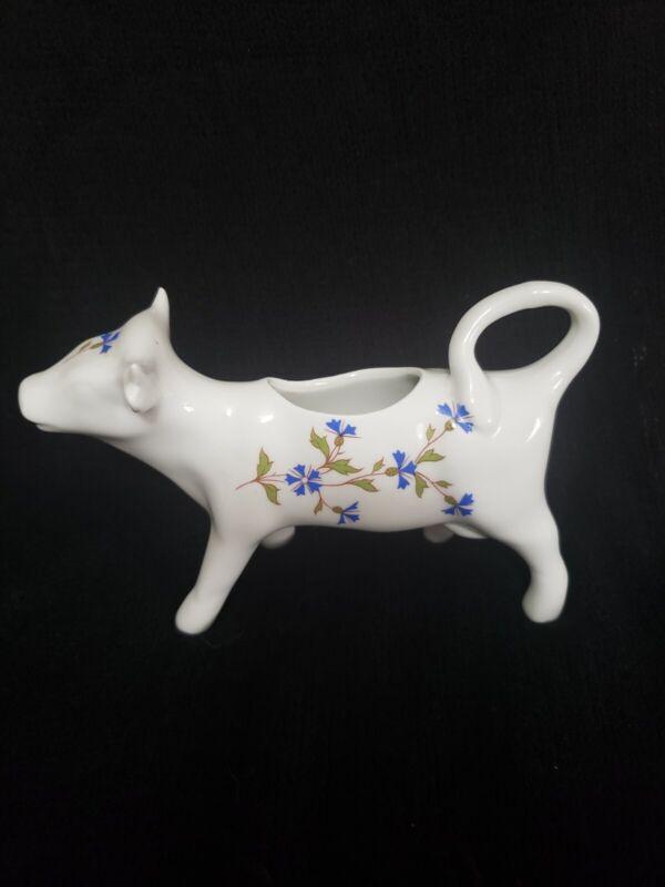 Cordon Bleu BIA Porcelain Cow Creamer - Floral - France