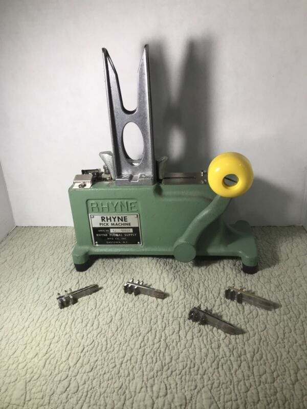 Rhyne Floral Supply Stemming Crimping Pick Machine