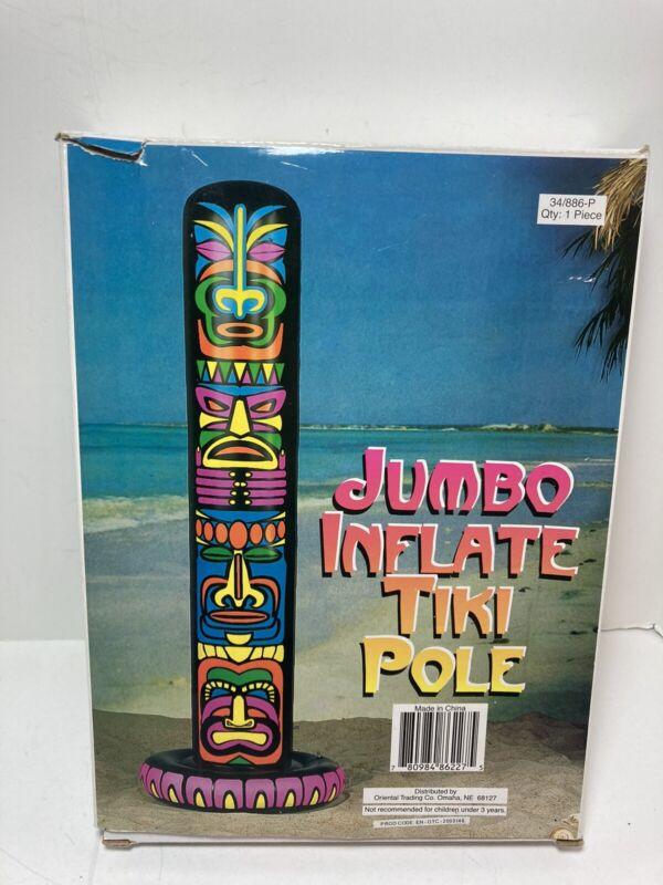 Jumbo Inflatable Tiki Pole Hawaii Luau 6' New In Box. Awesome!