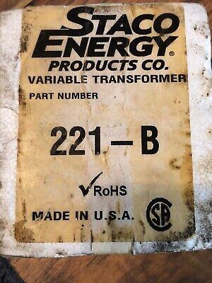 Staco Energy Prodcuts Company 221-b 120vac 2.5a Variable Transformer