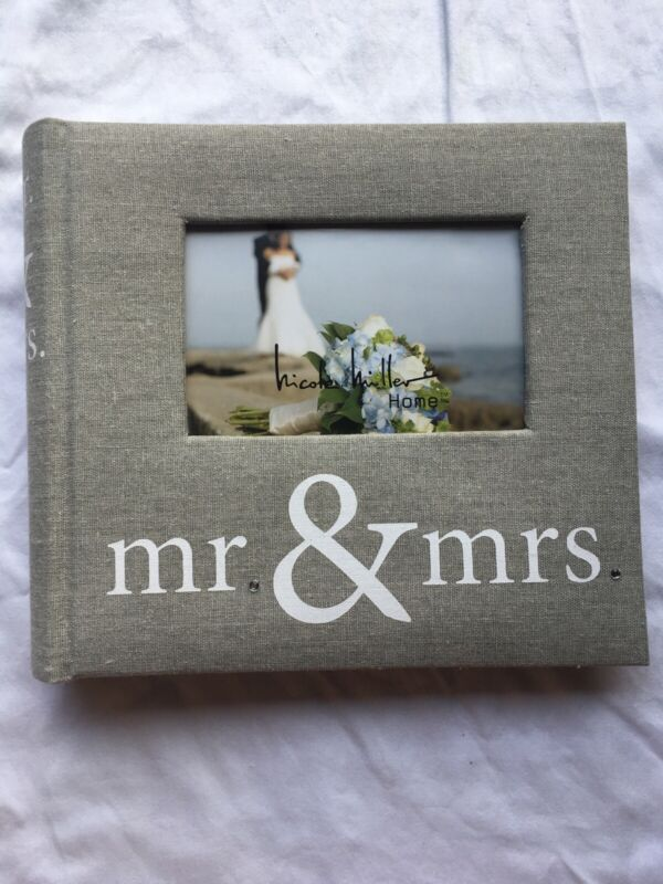 NEW Mr And Mrs Sparkly Wedding Photo Album by Nicole Miller Holds 200 6X4 PHOTOS