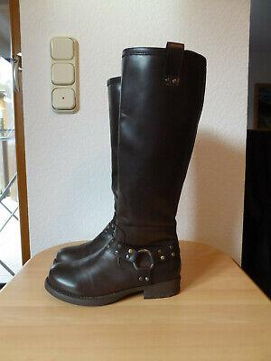 Stiefel Gr. 38 Stiefeletten Damen-Schuhe braun hohe Winterstiefel von dinsko