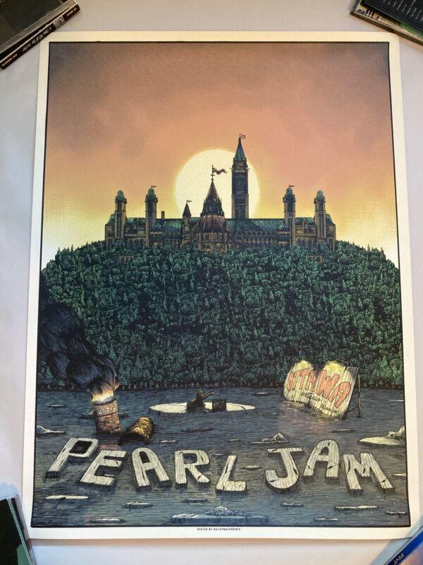 Pearl Jam Poster Ottawa 2020 SHOW EDITION BAILEY RACE POSTPONED SHOW!!!!!